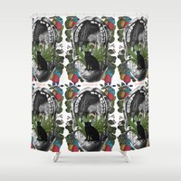mouth Shower Curtains featuring ANATOMY: MOUTH by MANDIATO ART & T-SHIRTS