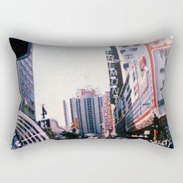 Riding into Vegas Rectangular Pillow