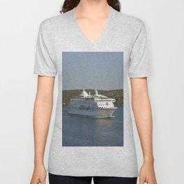 Cruise Ship Birka Unisex V-Neck