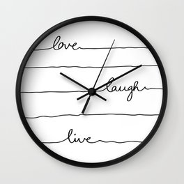 Love Laugh Live Wall Clock