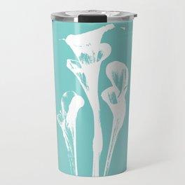 Calla Lily - Aqua Travel Mug