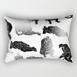 b&w fading figures Rectangular Pillow
