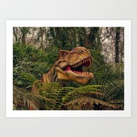 t rex Art Prints featuring T Rex by Shalisa Photography