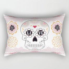 Dia de los Muertos Papel Picado Sugar Skull Rectangular Pillow