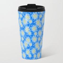 Inspirational Glitter & Bubble pattern Travel Mug