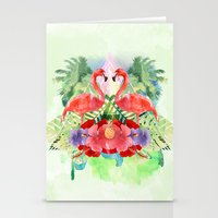 flamingo Stationery Cards featuring Flamingo by Kangarui by Rui Stalph