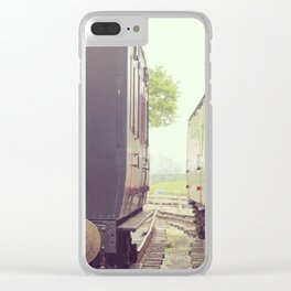 Vintage Railway Carriages Clear iPhone Case