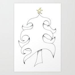 Pointillist Pine Art Print