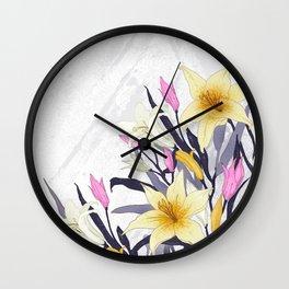 Lilly flower design Wall Clock