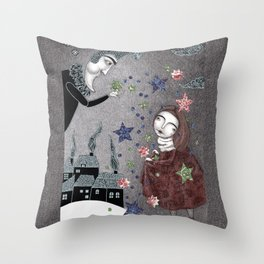 Snow Stars Fine, Snow Stars Mine Throw Pillow