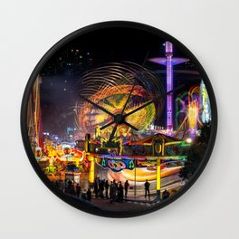 Fairground Attraction panorama Wall Clock