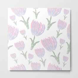 Tulips - pink and ultra violet Metal Print