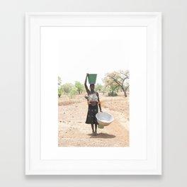 Ghanian Mother Framed Art Print