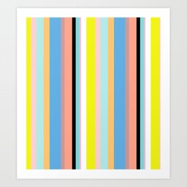 Nile Stripes Art Print