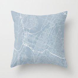 Chattanooga Map, USA - Slate Throw Pillow