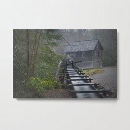 The Old Mingus Mill and Flume in the Great Smoky Mountain National Park in Tennessee Metal Print