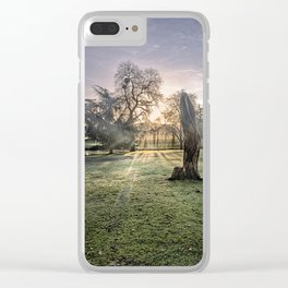 Morning Sun At Leeds Clear iPhone Case