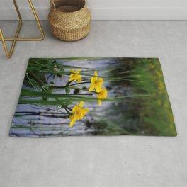 Marigolds on swamp Rug