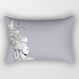 Girl With Ship Rectangular Pillow