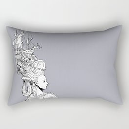 Girl With Ship Rectangular Pillow