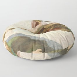 Michelangelo - Creation of Adam Floor Pillow