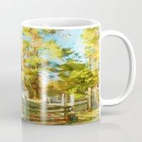 cabin Mugs featuring Pucketts Cabin by ThePhotoGuyDarren