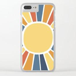 Desert Sunshine Clear iPhone Case