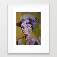 beth hoeckel Framed Art Prints featuring beth by Dan Feit