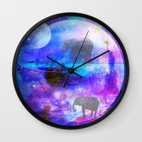 paradise Wall Clocks featuring paradise by haroulita