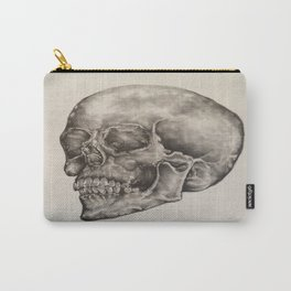Original Human Skull Pencil Drawing Carry-All Pouch