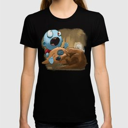 Zombies like to bite stuff too. T-shirt