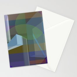 3D blocks and strokes Stationery Cards
