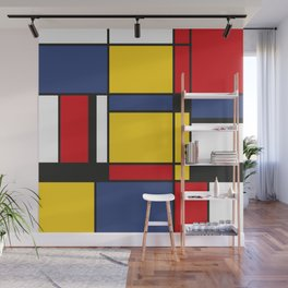 Downtown, Tribute to Mondrian Wall Mural