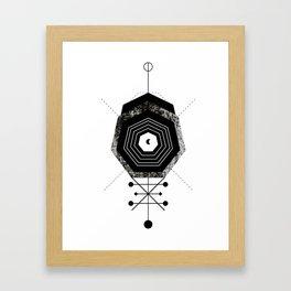 Stone geometry Framed Art Print