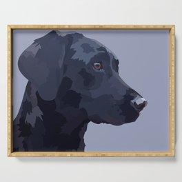 Black Labrador Serving Tray