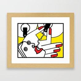 BREAST TITTY MILK Framed Art Print
