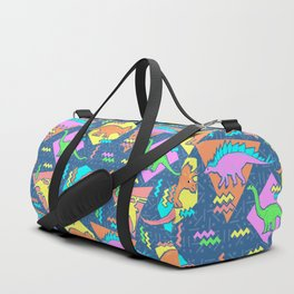 Nineties Dinosaur Pattern Duffle Bag