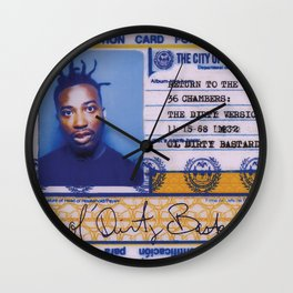 DIRTY Wall Clock