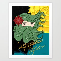 SPECIAL GIRL Art Print