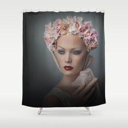 Flower Chid Shower Curtain