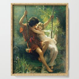 Spring by Pierre Auguste Cot Serving Tray