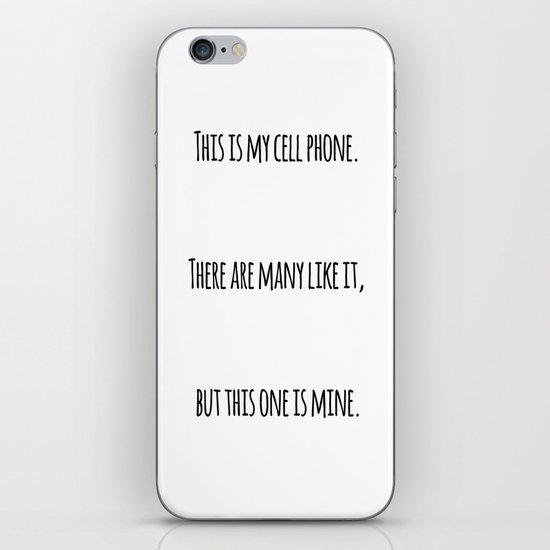 Cell Phone Cover White iPhone & iPod Skin