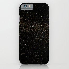 Golden Fleck Backgound iPhone Case