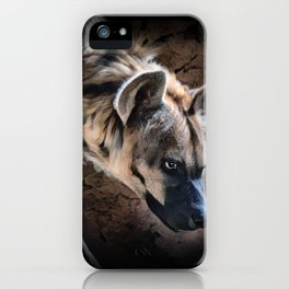 Spotted Hyena In The Shadows iPhone Case