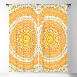 Marigold Orange Mandala Design Blackout Curtain