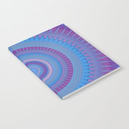 Electric Purple Blue Mandala Notebook