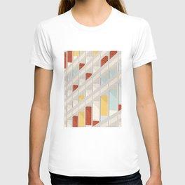 Le Corbusier colored pencil cité radieuse Marseille T-shirt