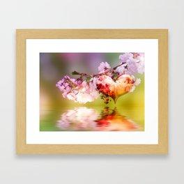 Frühlingsherz Framed Art Print