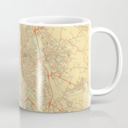 Toulouse Map Retro Coffee Mug