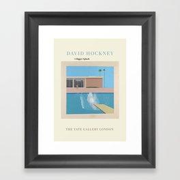 David Hockney Exhibition Art Poster - A Bigger Splash Framed Art Print